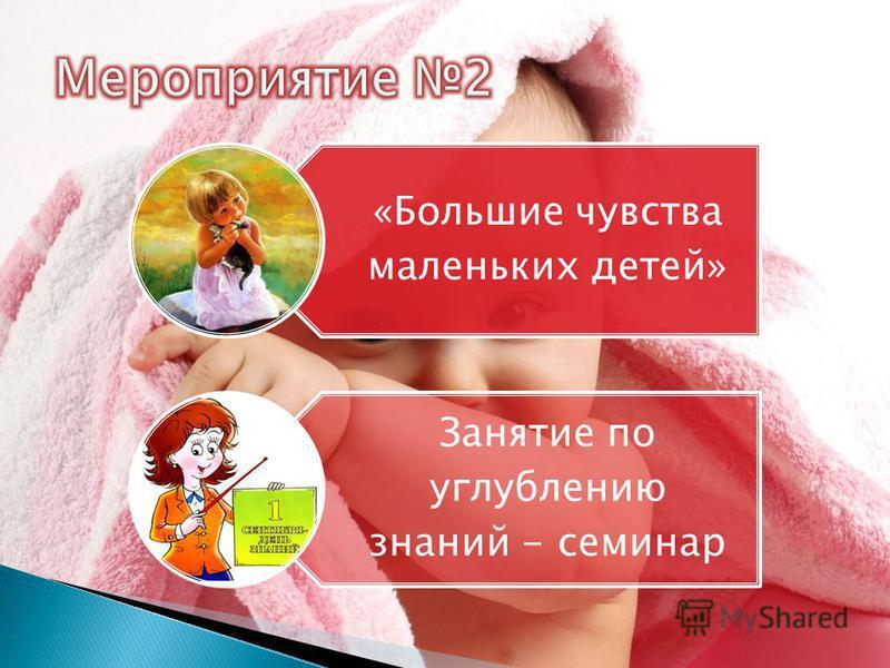 «Большие чувства маленьких детей» Занятие по углублению знаний - семинар