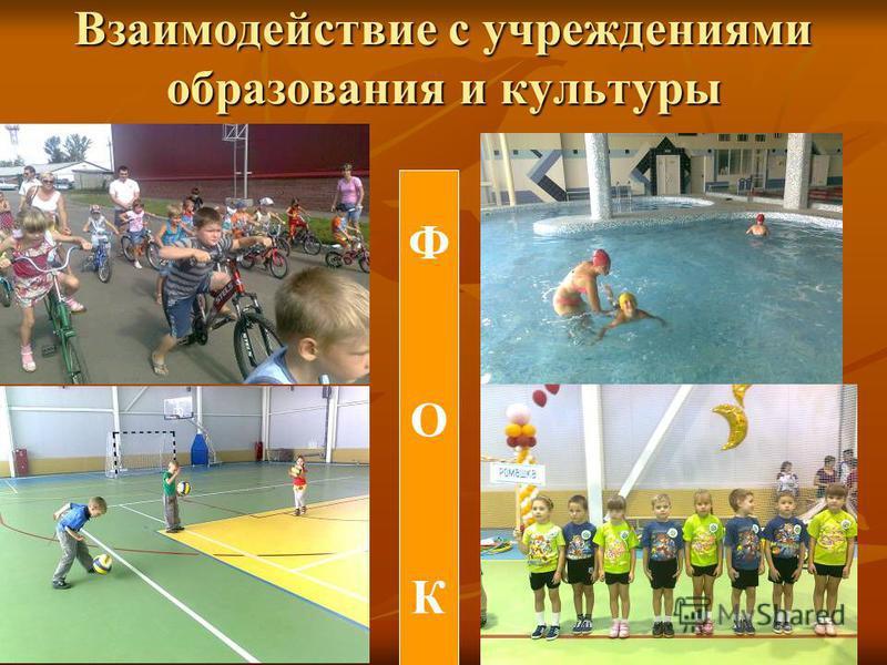 Взаимодействие с учреждениями образования и культуры ФОКФОК