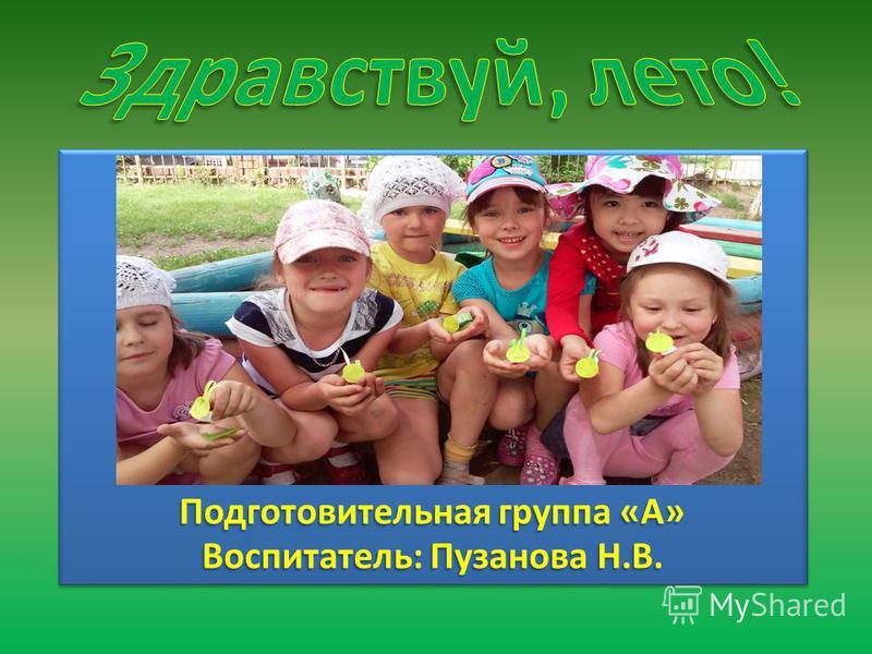 Подготовительная группа «А» Воспитатель: Пузанова Н.В.