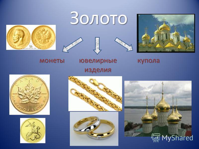 Золото монеты ювелирные изделия купола