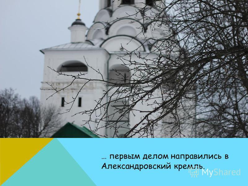 … первым делом направились в Александровский кремль.