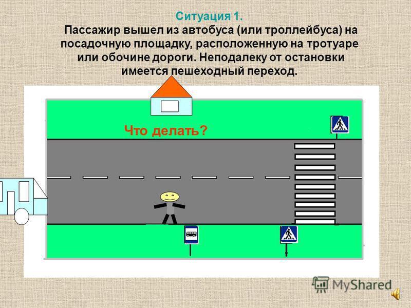 Попробуйте разобраться в дорожных ситуациях, предложенных на следующих слайдах, и дать советы пешеходам.