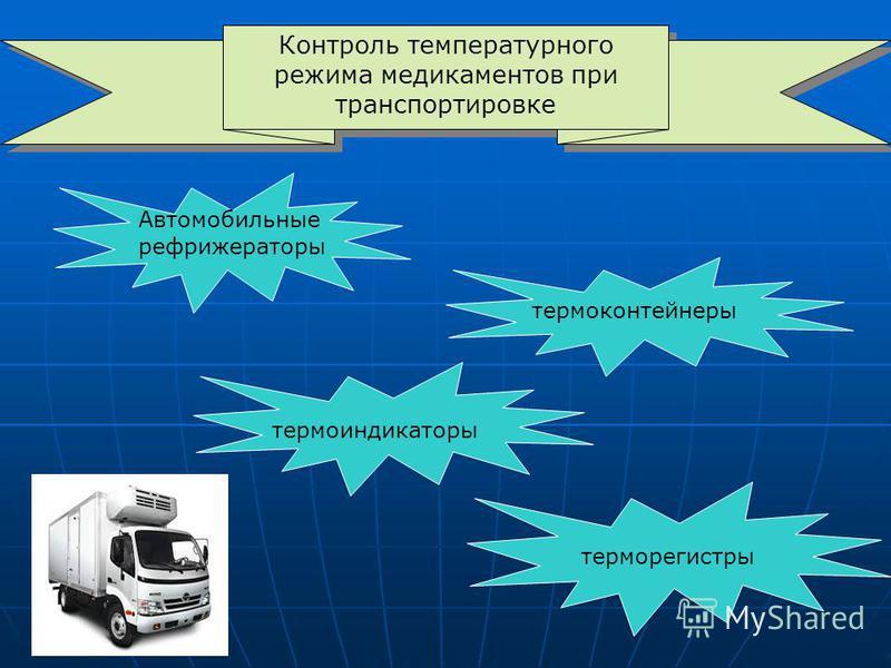 Контроль температурного режима медикаментов при транспортировке Автомобильные рефрижераторы термоконтейнеры термоиндикаторы термо регистры
