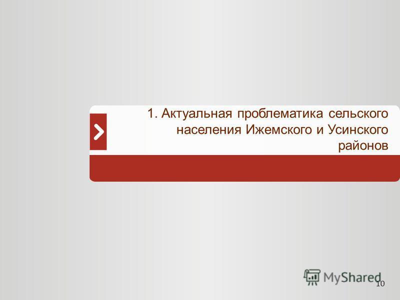 10 1. Актуальная проблематика сельского населения Ижемского и Усинского районов