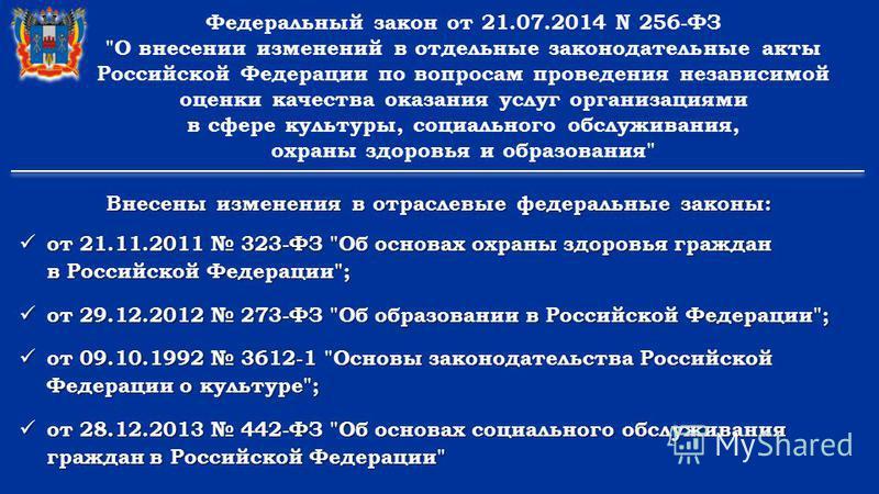 Федеральный закон от 21.07.2014 N 256-ФЗ