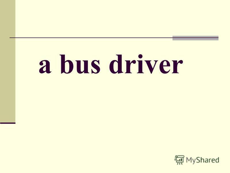 a bus driver
