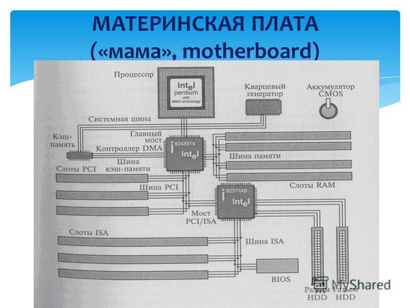 МАТЕРИНСКАЯ ПЛАТА («мама», motherboard)