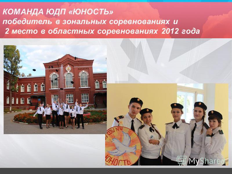 КОМАНДА ЮДП «ЮНОСТЬ» победитель в зональных соревнованиях и 2 место в областных соревнованиях 2012 года