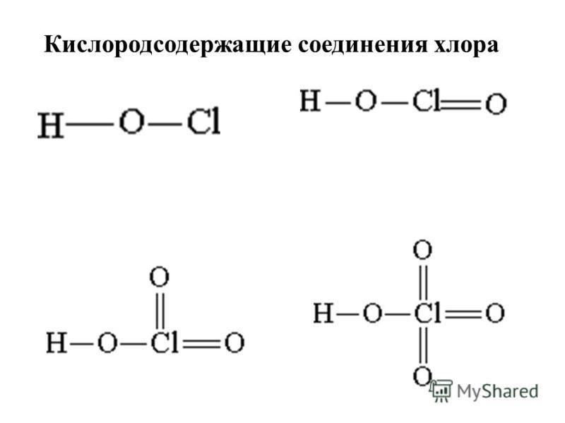 Кислородсодержащие соединения хлора