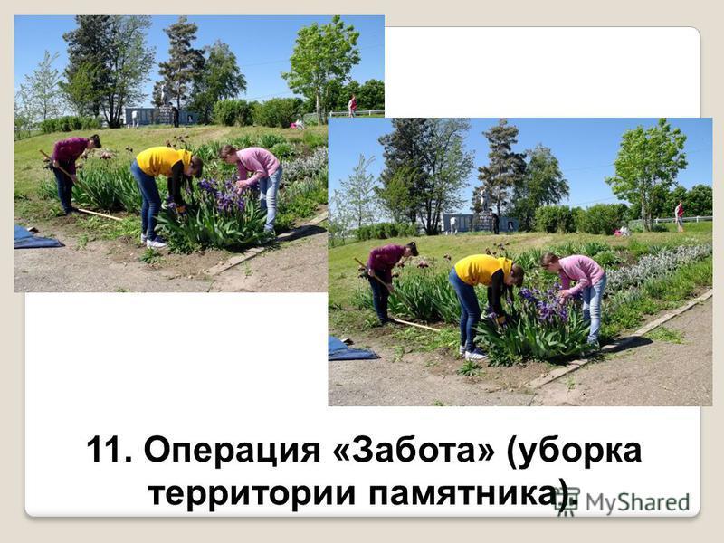 11. Операция «Забота» (уборка территории памятника).