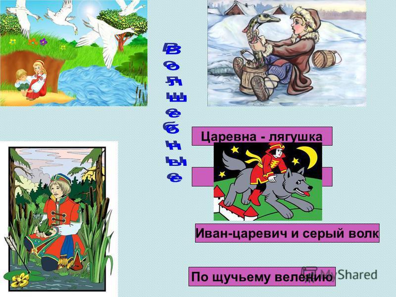 Гуси-лебеди Иван-царевич и серый волк Царевна - лягушка По щучьему велению