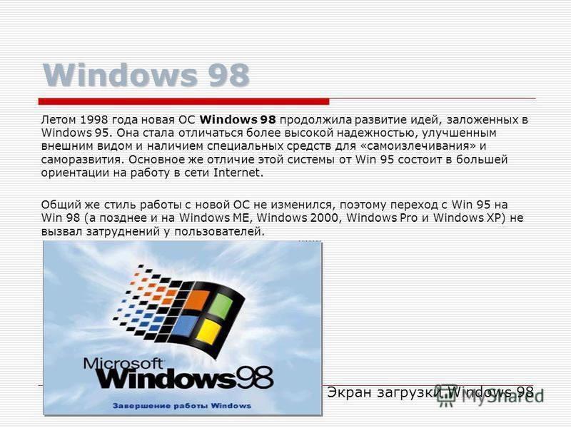 Экраны Windows 95 Рабочий стол и окна Windows 95