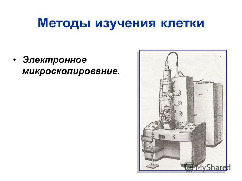 Методы изучения клетки Электронное микроскопирование.