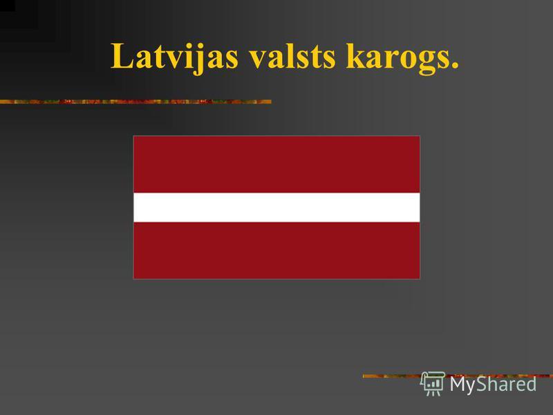 Latvijas valsts karogs.