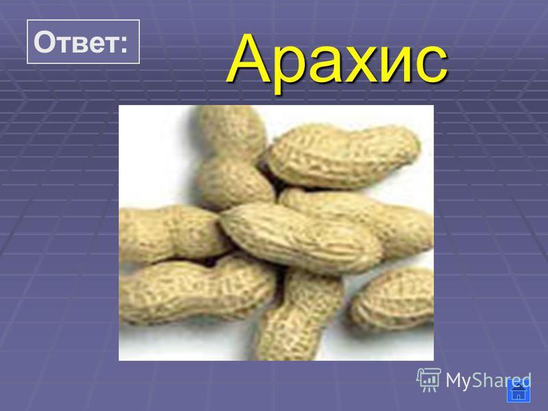 Ответ: Арахис