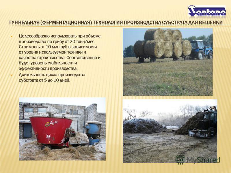 Целесообразно использовать при объеме производства по грибу от 20 тонн/мес. Стоимость от 10 млн.руб в зависимости от уровня используемой техники и качества строительства. Соответственно и будет уровень стабильности и эффективности производства. Длите