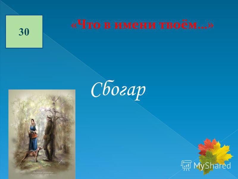 30 «Что в имени твоём…» Сбогар