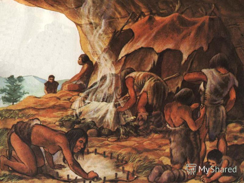 Many thousands of years ago there were no houses such as people live in today. In hot countries people sometimes made their homes in trees and used leaves to protect themselves from rain or sun. In colder countries they dwelt in caves. To dwell (dwel
