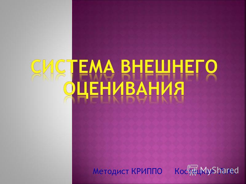 Методист КРИППО Костецкая Л.М.
