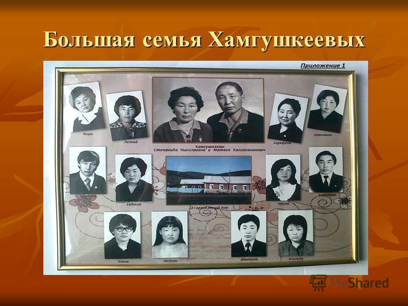 Большая семья Хамгушкеевых