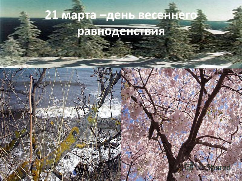 21 марта –день весеннего равноденствия