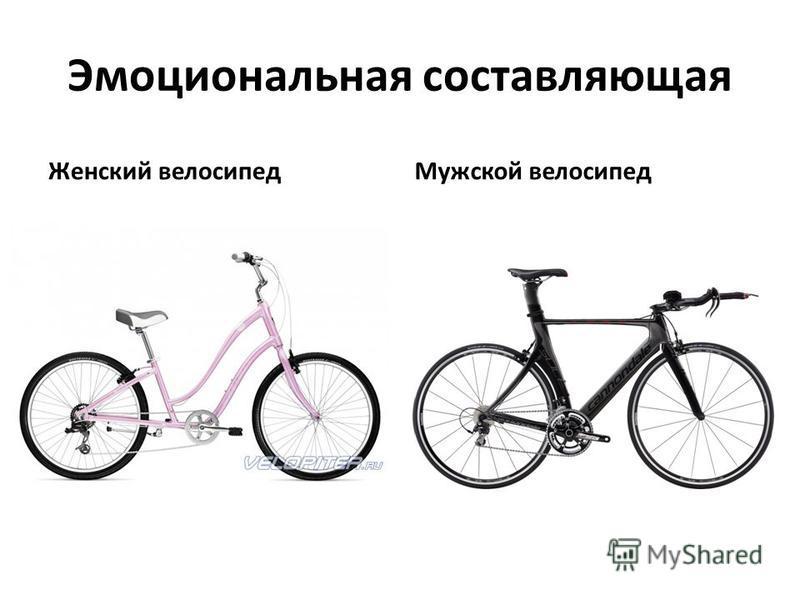 Эмоциональная составляющая Женский велосипед Мужской велосипед