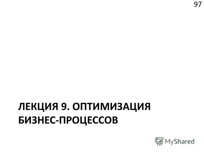 ЛЕКЦИЯ 9. ОПТИМИЗАЦИЯ БИЗНЕС-ПРОЦЕССОВ 97