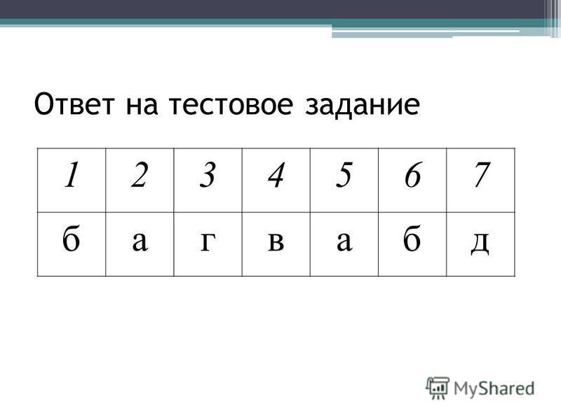 Ответ на тестовое задание 1234567 багвабд