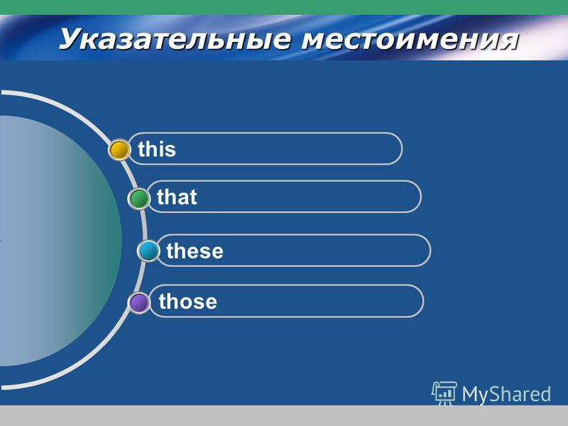 www.themegallery.com Company Logo Указательные местоимения those these that this