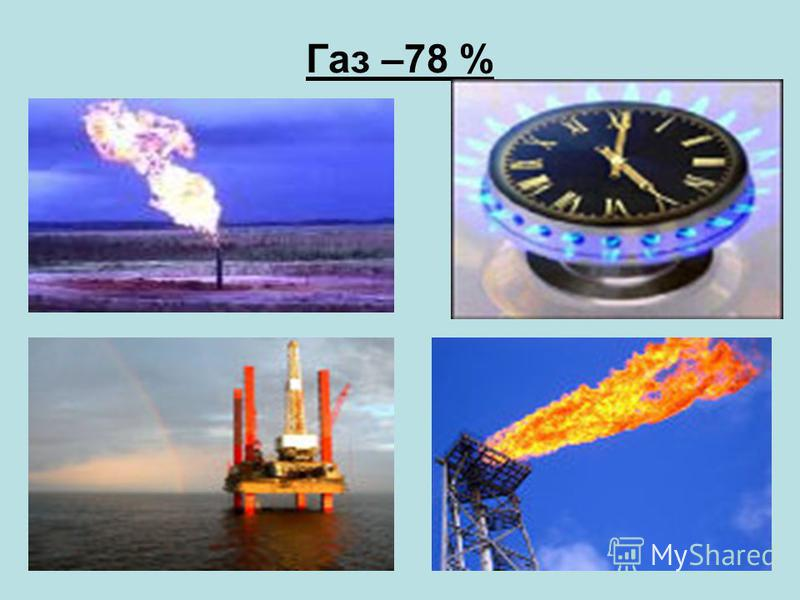 Газ –78 %