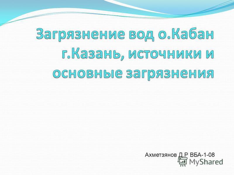 Ахметзянов Д.Р ВБА-1-08
