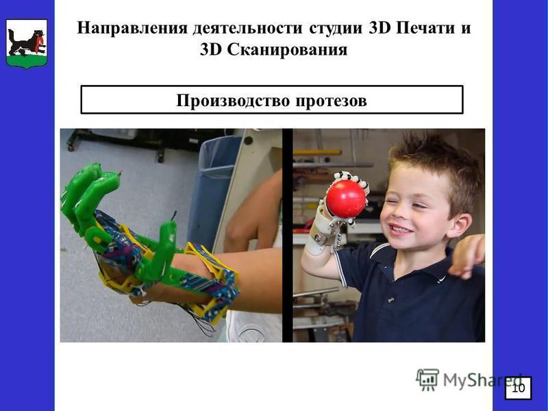 10 Направления деятельности студии 3D Печати и 3D Сканирования Производство протезов