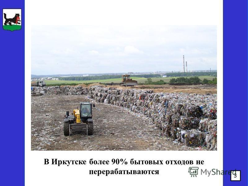 3 В Иркутске более 90% бытовых отходов не перерабатываются
