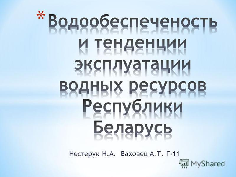 Нестерук Н.А. Ваховец А.Т. Г-11