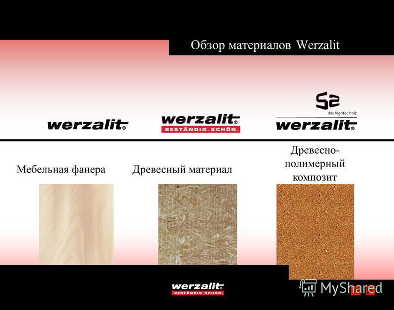 Обзор материалов Werzalit Мебельная фанера Древесный материал Древесно- полимерный композит