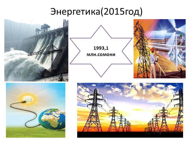 Энергетика(2015 год) 1993,1 млн.самони