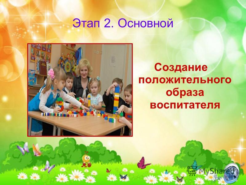 Этап 2. Основной Создание положительного образа воспитателя