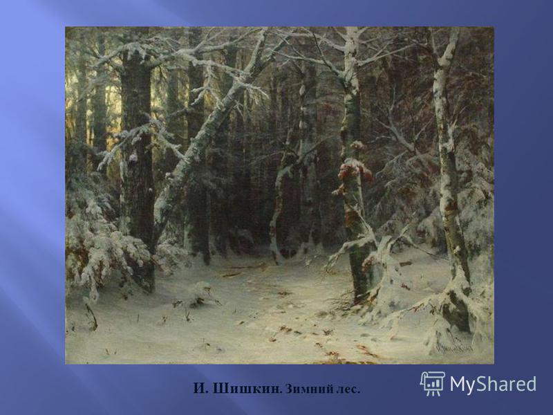 И. Шишкин. Зимний лес.