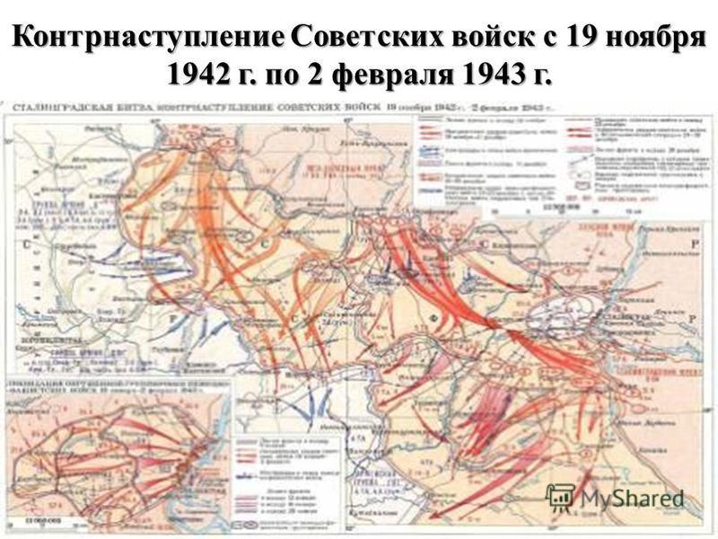 Контрнаступление Советских войск с 19 ноября 1942 г. по 2 февраля 1943 г.