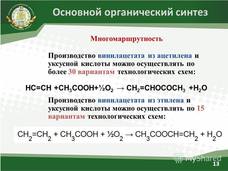 Производство винилацетата