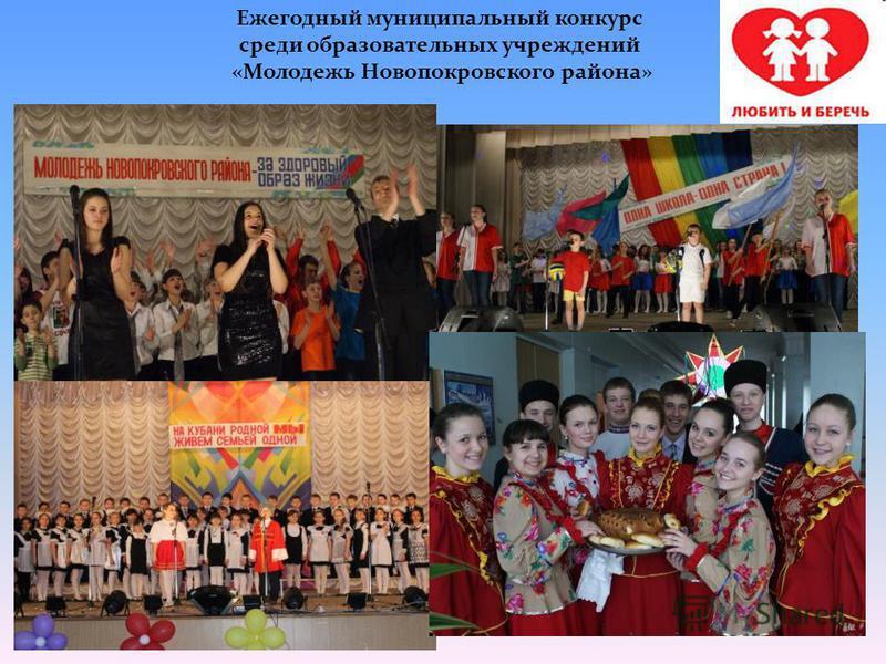 Ежегодный муниципальный конкурс среди образовательных учреждений «Молодежь Новопокровского района»