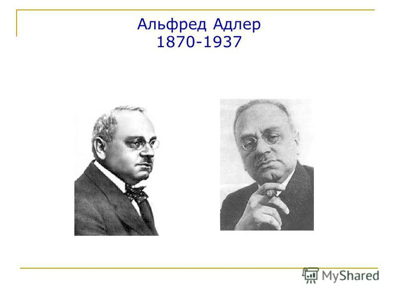 Альфред Адлер 1870-1937
