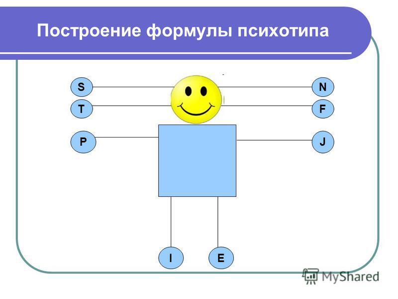 Построение формулы психотипа T SN F JP IE