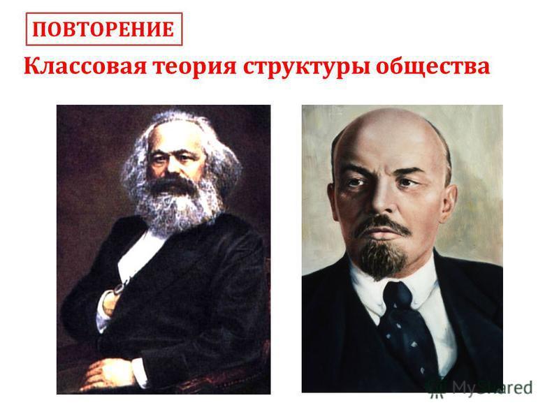 Классовая теория структуры общества ПОВТОРЕНИЕ