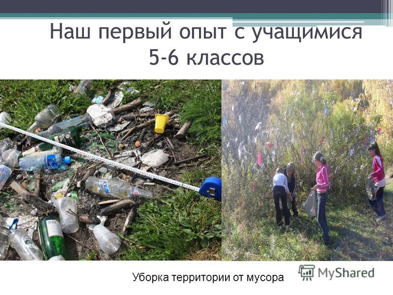 Наш первый опыт с учащимися 5-6 классов Уборка территории от мусора