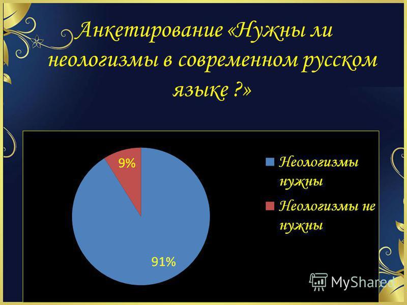 Анкетирование «Нужны ли неологизмы в современном русском языке ?»
