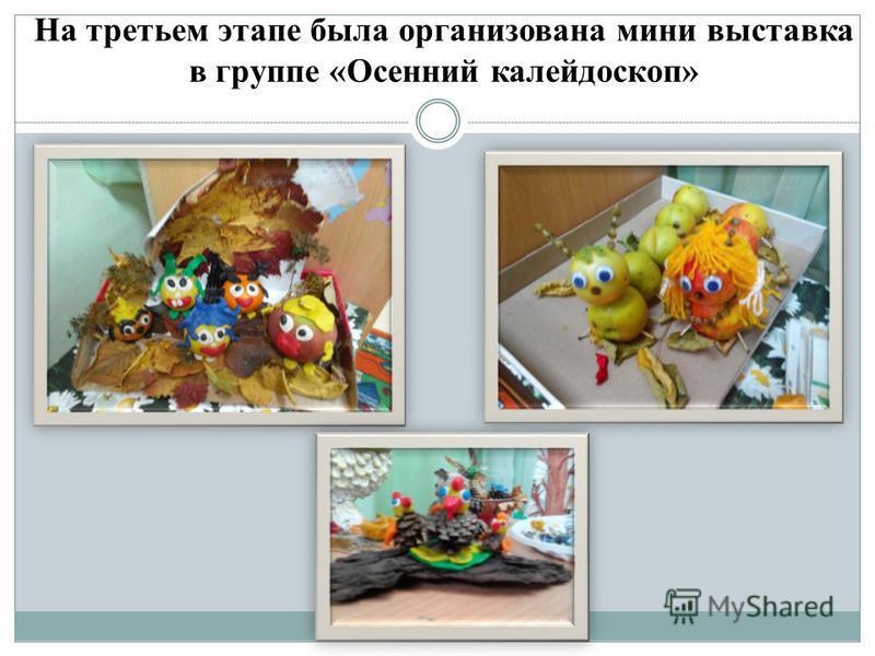 На третьем этапе была организована мини выставка в группе «Осенний калейдоскоп»