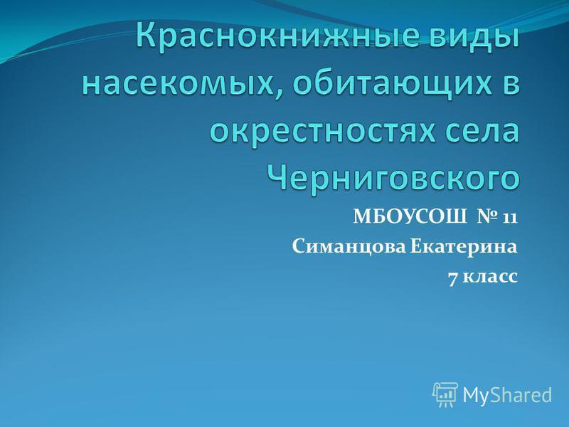 МБОУСОШ 11 Симанцова Екатерина 7 класс