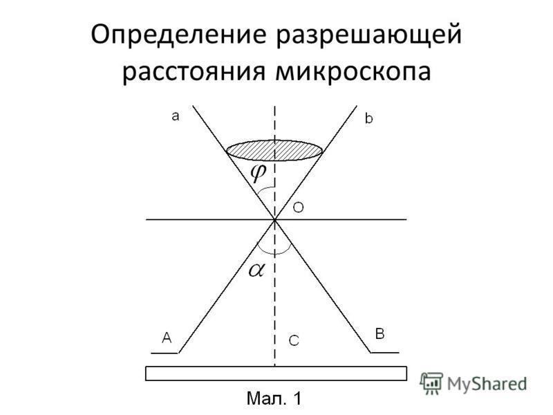 Определение разрешающей расстояния микроскопа