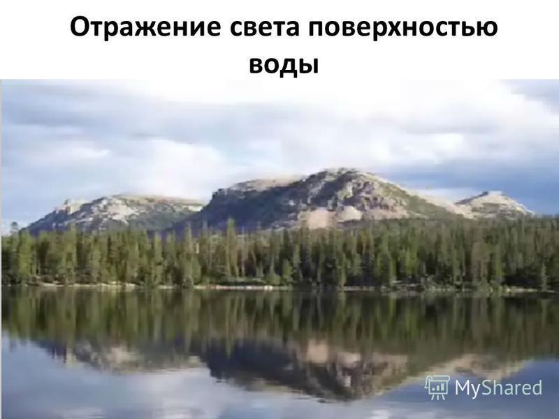 Отражение света поверхностью воды